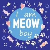 Jestem Meow chłopiec Zdjęcie Royalty Free