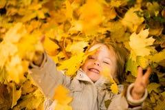 Jestem szczęśliwy ja jest jesienią Obraz Royalty Free