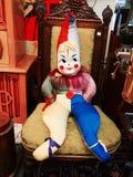 Jester του παλαιού παιδιού κούκλα Στοκ Φωτογραφία