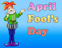 Jester April Fool's Day. An illustration of a jester April Fool's Day Royalty Free Stock Photos