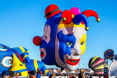 Jester Balloon de duas caras Fotos de Stock Royalty Free