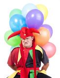 Jester with balloons Royalty Free Stock Photography