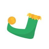 Jester boot april fools day Royalty Free Stock Photos