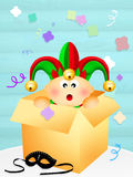 Jester in the box Royalty Free Stock Photos