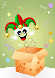Jester in the box Royalty Free Stock Images