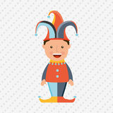 Jester carnival design. Illustration eps10 graphic Royalty Free Stock Images