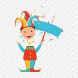 Jester carnival design. Illustration eps10 graphic Stock Images