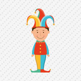 Jester carnival design. Illustration eps10 graphic Royalty Free Stock Photo