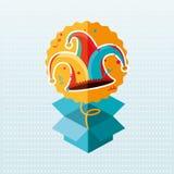 Jester carnival design. Illustration eps10 graphic Stock Photo