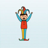 Jester carnival design. Illustration eps10 graphic Stock Photos