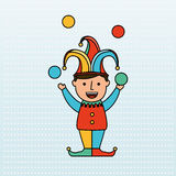 Jester carnival design. Illustration eps10 graphic Royalty Free Stock Photography