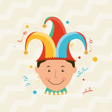 Jester carnival design. Illustration eps10 graphic Stock Photography