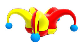 Jester hat. Isolated on white Stock Photography