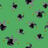 Jester Hat Seamless Pattern Image stock