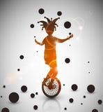 Jester juggler Stock Image