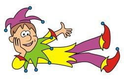 Jester. Lying Punch. Humorous illustration for children Stock Image