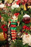Jester Ornament on a Christmas Tree Stock Photos