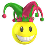 Jester smiley. 3d illustration on white Stock Photo