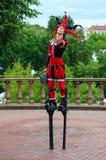 Jester on stilts during festival Slavic Bazaar, Vitebsk, Belarus Stock Image
