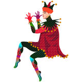 Jester on a white background. Vector illustration Royalty Free Stock Photo