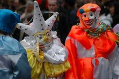 Jesters do carnaval Fotografia de Stock