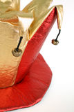 Jesters Hat. Fun hat worn by a jester isolated over white Royalty Free Stock Photos