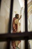 Jesucristo detrás de barras Fotos de archivo libres de regalías
