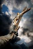 Jesucristo en cruz Foto de archivo libre de regalías