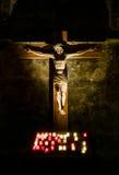Jesucristo en la cruz Foto de archivo libre de regalías