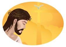 Jesucristo y cruz Imagen de archivo