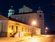 Jesuit cathedral in Lutsk. Jesuit catholic cathedral of the 17 century in Lutsk Royalty Free Stock Photo