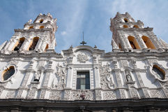 Jesuit church of La Compañia, Puebla (Mexico) Royalty Free Stock Image