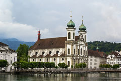 Jesuit Church, Lucerne Stock Photos