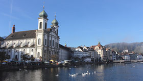 Jesuit Church in Lucerne Royalty Free Stock Photo