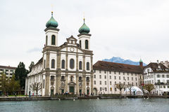 Jesuit church in Lucerne Stock Photography