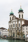 Jesuit church in Lucerne Stock Photos
