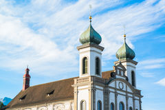 Jesuit church in Lucerne Royalty Free Stock Images
