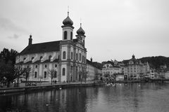 The Jesuit Church in Lucerne Royalty Free Stock Photo