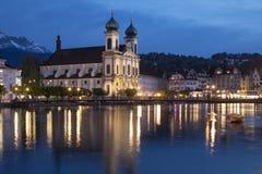 Jesuit Church - Lucerne - Switzerland Royalty Free Stock Image