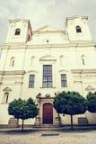 Jesuit church in Skalica, Slovak republic, retro photo filter Stock Images