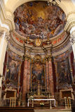 Jesuit church of St Ignatius in Dubrovnik interior Stock Photos