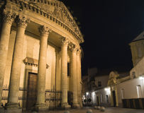 Jesuit College, Cordoba. Facade of the Jesuit college at night Royalty Free Stock Photos