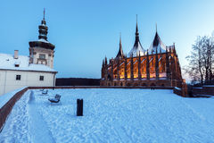 Jesuit College and St. Barbara`s Church in Kutna Hora Royalty Free Stock Photo