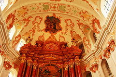 Jesuit kyrkliga inre Lucerne Schweiz Royaltyfri Bild