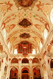 Jesuit kyrkliga inre Lucerne Schweiz Royaltyfria Foton