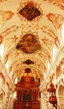 Jesuit kyrkliga inre Lucerne Schweiz Royaltyfria Bilder