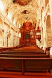 Jesuit kyrkliga inre Lucerne Schweiz Royaltyfri Foto