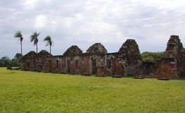 Jesuit mission Ruins in Trinidad Paraguay Royalty Free Stock Photos