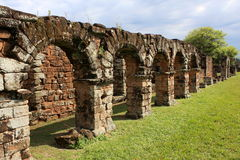 Jesuit mission Ruins in Trinidad, Paraguay stock photos