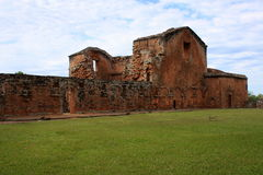 Jesuit mission Ruins in Trinidad, Paraguay Stock Image